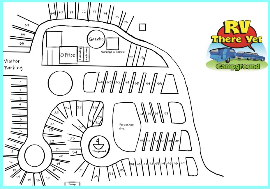RV There Yet Campground Map